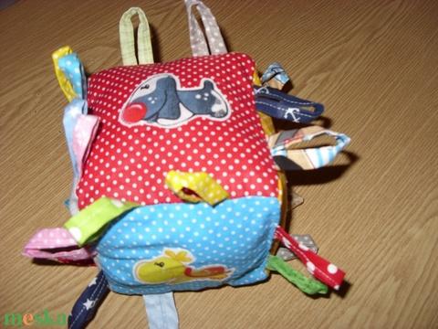Babakocka - babakézbe csörgős puha baba kocka 13 x 13 cm  100% pamut  - játék & gyerek - 3 éves kor alattiaknak - babakocka - Meska.hu