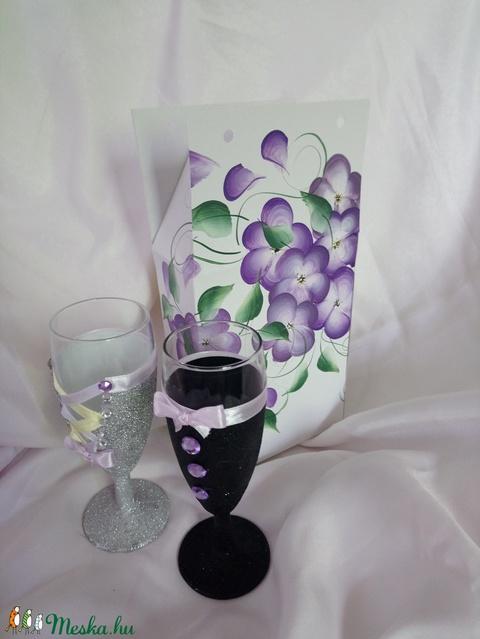Az Ifjú Pár pezsgős pohara - esküvői dekoráció - Meska.hu