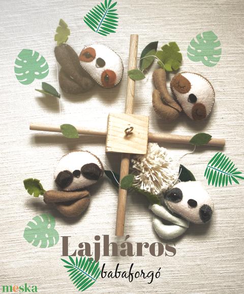 Babaforgó Lajhárral, Lajhár, babaforgó, babaszoba, babaágy, dzsungel, trópusi, gyerekszoba, babaváró - Meska.hu