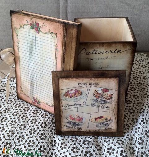 Csokis doboz, receptes füzet szettben. (Mani73) - Meska.hu