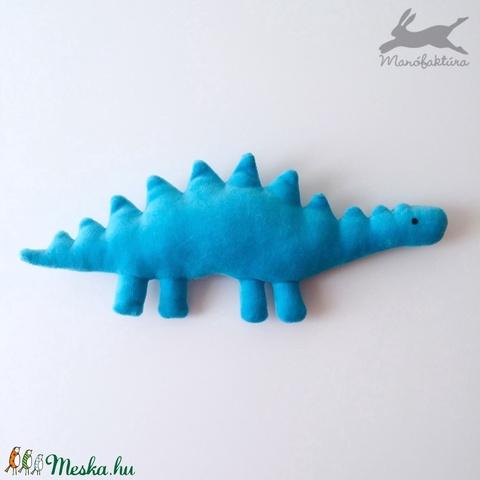 Plüss játék dínó (kék) dino, dinoszaurusz - Meska.hu