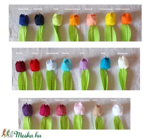 Textil tulipán (12 db, pasztell színek) (MariaBodnar) - Meska.hu