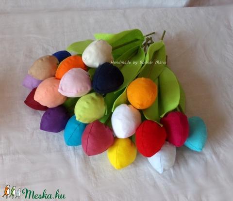 Textil tulipán (bimbós, 20 db) (MariaBodnar) - Meska.hu