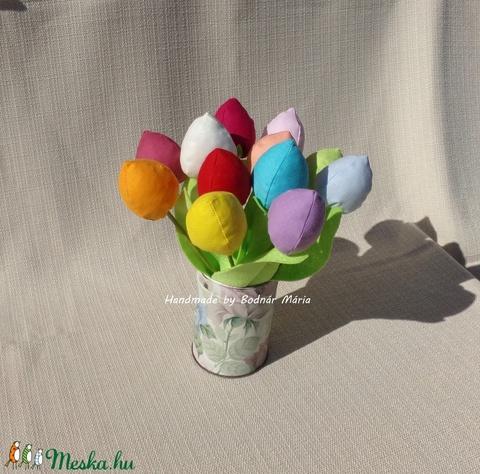 Textil tulipán (bimbós, 12 db) (MariaBodnar) - Meska.hu
