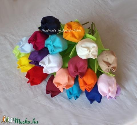 Textil tulipán ( 20 db) (MariaBodnar) - Meska.hu