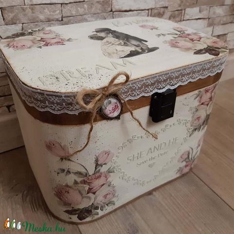 Nagy méretű, sorsjegy/pénz/borítékgyűjtő doboz esküvőre! (MaricaPortekai1) - Meska.hu