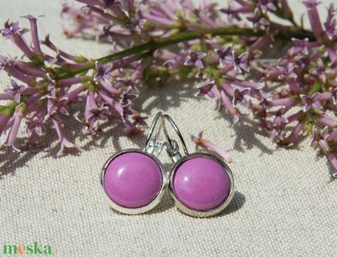 Orgona lila tűzzománc francia kapcsos fülbevaló (MatisZomanc) - Meska.hu