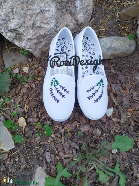 Levendulás cipő (Mazsi90) - Meska.hu