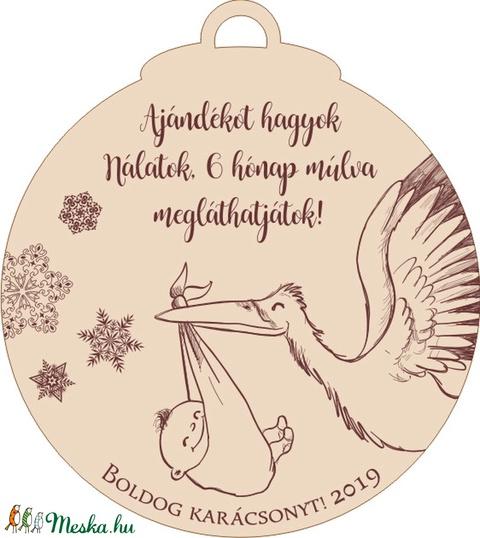 Bababejelentő karácsonyfadísz nagyszülőknek (MeDaLia) - Meska.hu