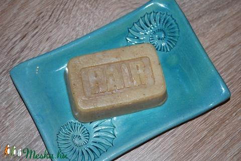 Vegán természetes sampon szappan Holt-tengeri iszappal zöld tea búzavirág főzettel környezetbarát ajándék szülinapra is (medalin) - Meska.hu