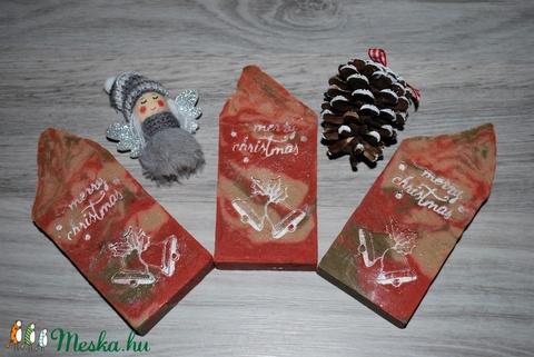 Argán olajos szappan karácsonyi mintával kellemes fahéjas fűszeres illattal minden bőrtípusra ajándékba is (medalin) - Meska.hu