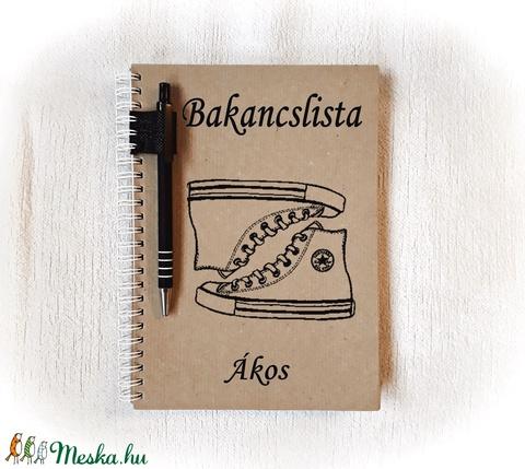 Bakancslista füzet, napló, jegyzetfüzet,rusztikus stílusban, névre szóló- A5 méret, könyv (Merka) - Meska.hu