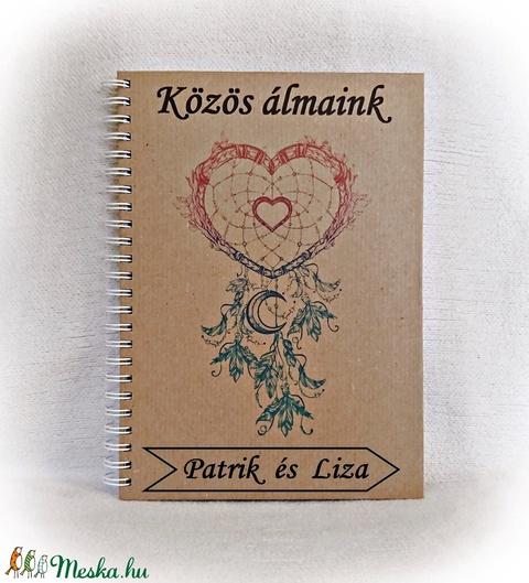 Pénzátadó bakancslista esküvőre belül borítékkal, golyóstollal,50 lappal,nászajándék,napló, fényképalbum, névre szóló  (Merka) - Meska.hu