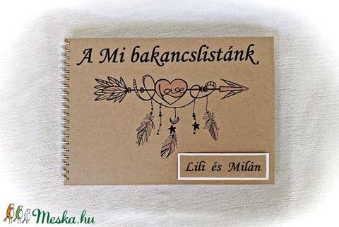 Pénzátadó bakancslista esküvőre, borítékkal,20 lappal,nászajándék,napló, beragsztós fényképalbum, egyedi, névre szóló  (Merka) - Meska.hu