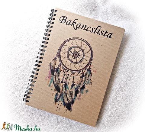 Bakancslista napló, álomfogó, jegyzetfüzet,rusztikus stílusban, névre szóló- A5 méret, könyv (Merka) - Meska.hu