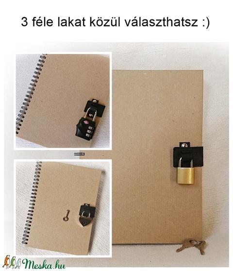 Újratervező, újragondoló napló, Loading mintával , jegyzetfüzet, A5 méret, emlékkönyv (Merka) - Meska.hu