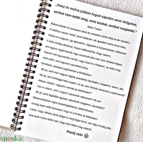 Bakancslista napló, nyomtatott lapokkal, KÉSZ- PIPA jellel a borítón,születésnap, karácsony, ajándék ötlet, A5 méret (Merka) - Meska.hu
