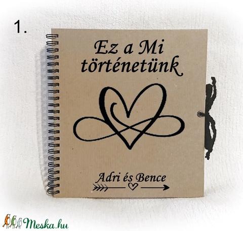 Szerelmes  fényképalbum, fotókhoz alkalmas 200 grammos belső lapokkal, album, esküvő, Valentin nap,évforduló,eljegyzés - Meska.hu