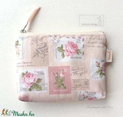 Pasztell rózsás,  irattartó pénztárca púder színben - Artiroka design - Meska.hu