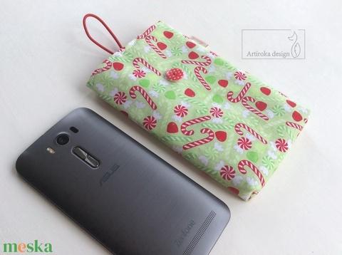 Karácsonyváró cukor mintás, mobiltok - Artiroka design (Mesedoboz) - Meska.hu