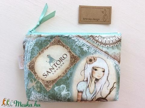 Santoro Mirabelle angyal mintás irattartó pénztárca - Artiroka design  (Mesedoboz) - Meska.hu