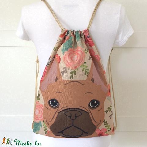 Kutya mintás gymbag hátizsák  - edzéshez, úszáshozvagy a mindennapokhoz - Artiroka design (Mesedoboz) - Meska.hu