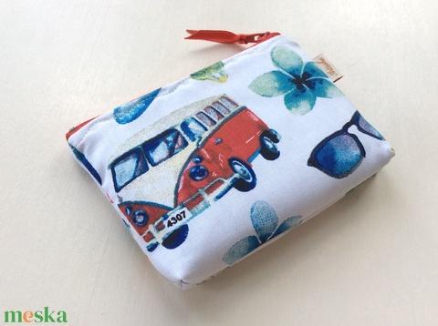 Volkswagen busz, retro irattartó pénztárca - szörf, nyár, shup, tenger, Balaton,  (Mesedoboz) - Meska.hu