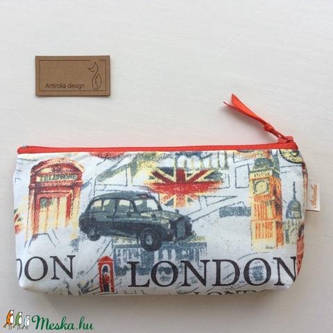 AKCIÓ - London mintás  -  tolltartó, irattartó neszesszer, mobiltok, szemüvegtok - Artiroka design   - Meska.hu
