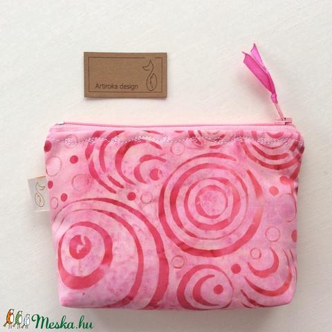 Egyedi batikolt prémium irattartó pénztárca - Rózsaszín - Artiroka design - Meska.hu