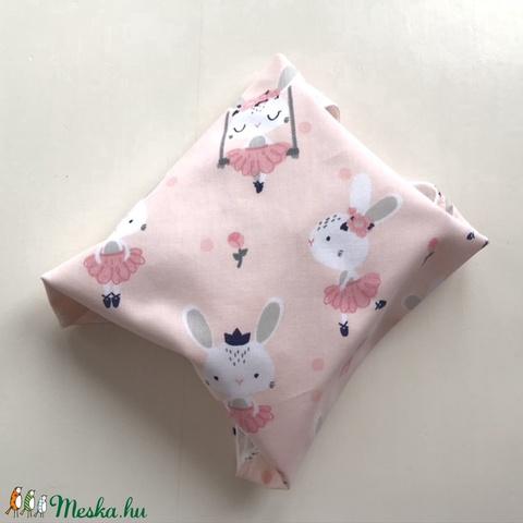 ÖKO szalvéta, szendvics- uzsonna csomagoló, nyuszi mintás pasztell rózsaszín / NoWaste leírása- Artiroka design  - Meska.hu