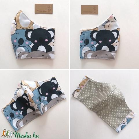 Koala mackó mintás arcmaszk, szájmaszk, maszk -  Artiroka design (Mesedoboz) - Meska.hu