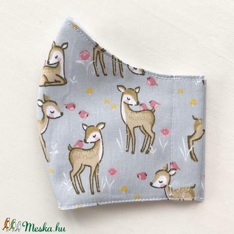 Bambi, őzike mintás maszk, gyerek maszk, szájmaszk, arcmaszk prémium pamut textilből-  Artiroka design  (Mesedoboz) - Meska.hu