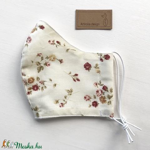 Virág mintás arcmaszk, szájmaszk, maszk - Artiroka design (Mesedoboz) - Meska.hu