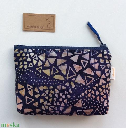 Kövek a vízparton - egyedi, batikolt, irattartó pénztárca, neszesszer - Artiroka design - Meska.hu