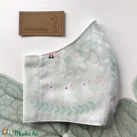 A három nyúl- Zelk Zoltán meséje ihlette prémium maszk, szájmaszk, gyerek maszk prémium textilből-  Artiroka design (Mesedoboz) - Meska.hu