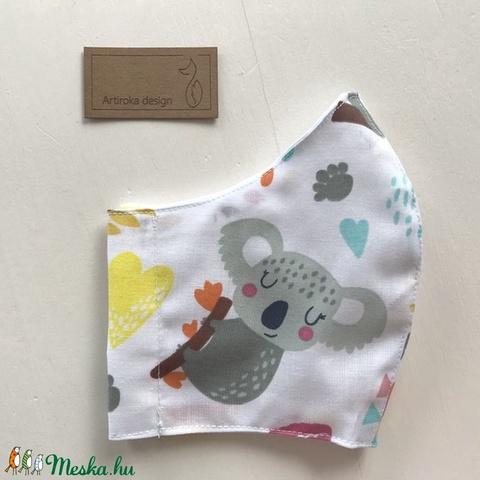 Koala mackó mintás arcmaszk, szájmaszk, maszk, gyerekmaszk-  Artiroka design - Meska.hu