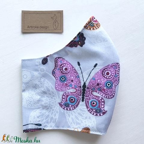 Pillangó mintás női arcmaszk, szájmaszk, maszk, gyerekmaszk - Artiroka design (Mesedoboz) - Meska.hu