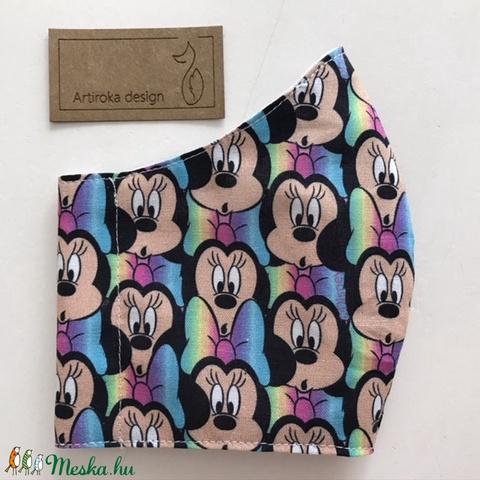 Mickey egér mintás prémium pamut arcmaszk, szájmaszk, maszk, gyerekmaszk - Miki egér - XS méret-Artiroka design - Meska.hu