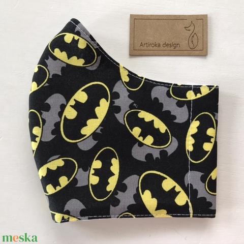 Batman mintás prémium arcmaszk, szájmaszk, maszk, gyerek maszk - Artiroka design - Meska.hu
