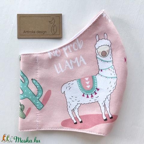 Ha rajtad a Láma, nincs DRÁMA! Láma mintás PRÉMIUM pamut textil arcmaszk, szájmaszk, maszk -  Artiroka design - Meska.hu