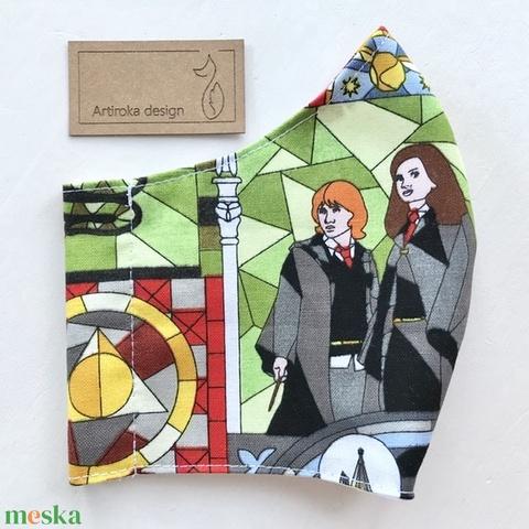 Harry Potter mintás arcmaszk, szájmaszk, maszk S méretben - Artiroka design - Meska.hu