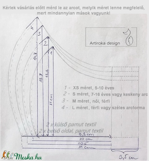 Flamingó mintás arcmaszk, szájmaszk, maszk - Artiroka design - Meska.hu