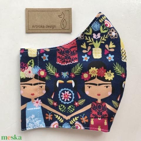 Frida -  prémium pamut textilből készült maszk, művészeteket kedvelőknek - Mesedoboz  - Artiroka design  - Meska.hu