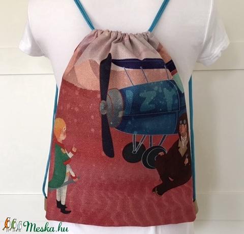 AKCIÓ - Kis herceg és Exupery mintás, egyedi gymbag hátizsák - edzéshez, úszáshoz, kiránduláshoz - Artiroka design - Meska.hu