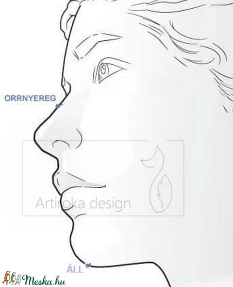 Világoskék  mintás prémium flanel arcmaszk, szájmaszk, maszk, gyerekmaszk hideg időre - Artiroka design - Meska.hu