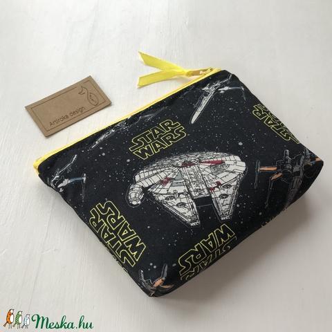 Star Wars űrhajó mintás prémium  irattartó pénztárca, neszesszer - Artiroka design - Meska.hu
