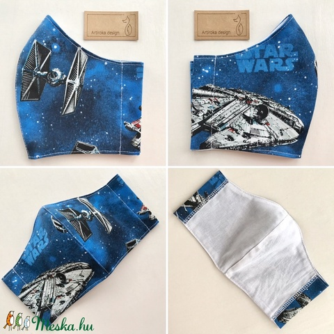 Star Wars mintás prémium arcmaszk, szájmaszk, maszk, gyerekmaszk  - Artiroka design - Meska.hu