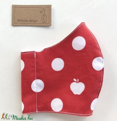 AKCIÓ - Piros pöttyös, alma mintás PRÉMIUM szájmaszk, maszk, arcmaszk - Artiroka design - Meska.hu