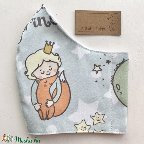Kis herceg és a róka mintás arcmaszk, szájmaszk, maszk -  Artiroka design - Meska.hu