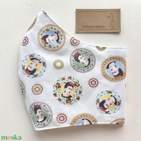 Frida Kahlo -   prémium pamut textilből készült maszk, művészeteket kedvelőknek - Mesedoboz  - Artiroka design  (Mesedoboz) - Meska.hu